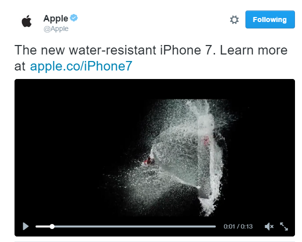 iPhone 7 Waterproofing: Apple Reveals Detail in Tweet | BGR