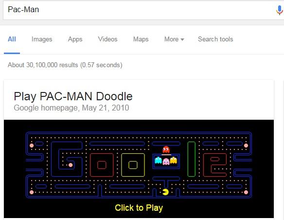 pacman-google-easter-egg