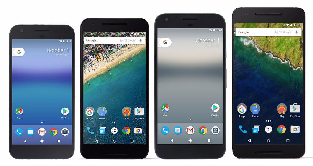 Pixel vs. Pixel XL vs. Nexus 5X vs. Nexus 6P