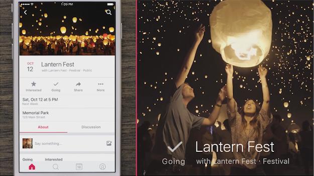 Events from Facebook Calendar App