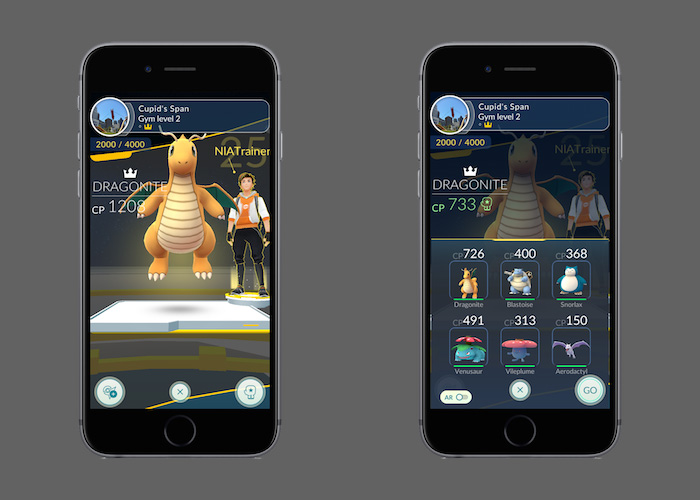 Pokemon Go Gym Training Update