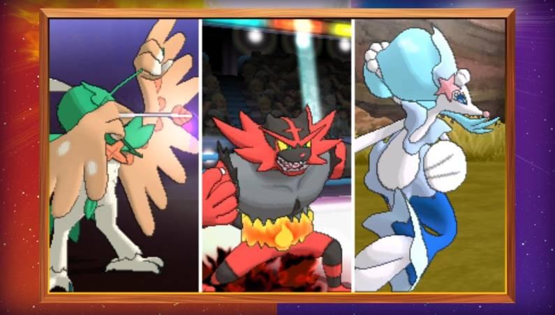 Pokemon Sun Moon Starter Evolutions