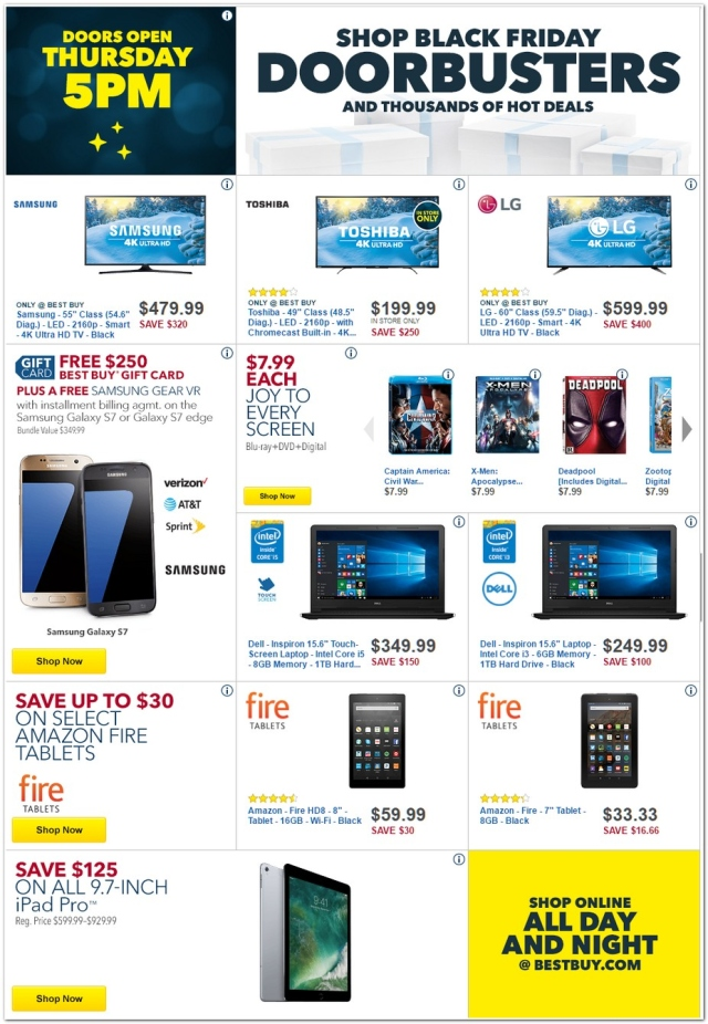 Best Buy Black Friday 2016 Ad Iphone 7 Ps4 Pro Bundle Tvs And Other Huge Deals Bgr