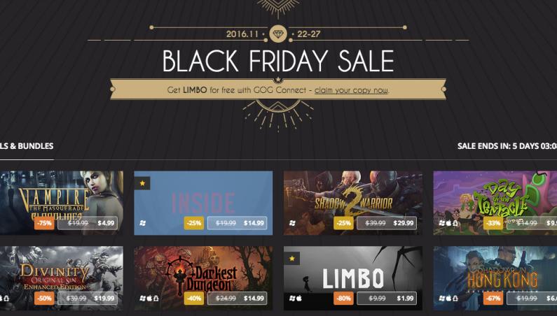 GOG.com Black Friday Sale