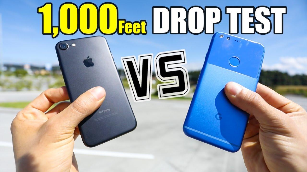 Google Pixel vs iPhone 7 Drop Test