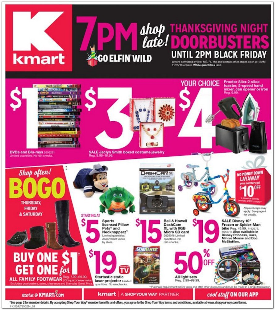 Details: Get the best deals on apparel and accessories for the entire family when you shop at Kmart. Whether you're shopping for boys or girls, get incredible deals on graphic tees, jeans, activewear and everyday essentials.