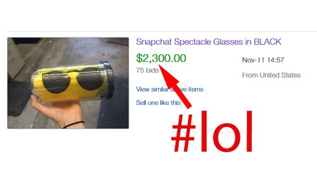 Snapchat Spectacles eBay