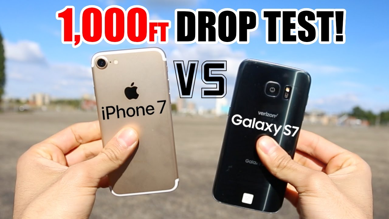 iphone drop test drop test pits the iphone 7 against the galaxy s7 11808