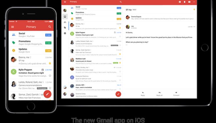 Google Gmail App iPhone Redesign