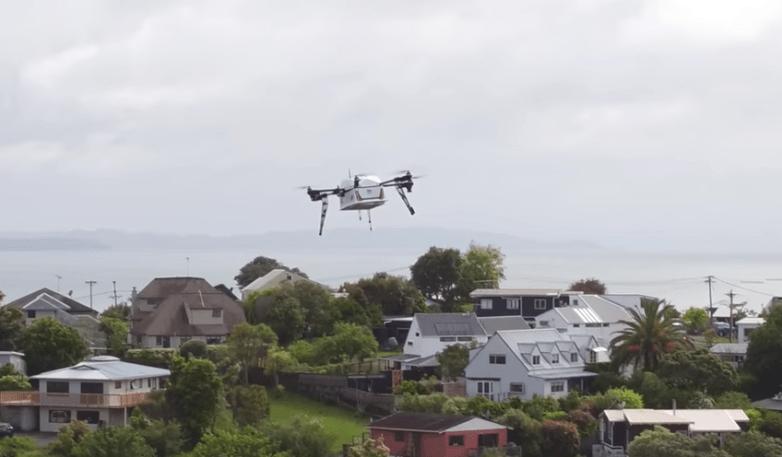 drone delivery pizza