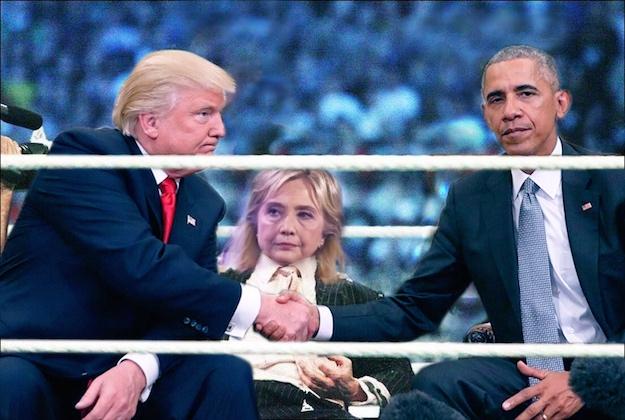 trump-obama-clinton-wwe-ring-reddit