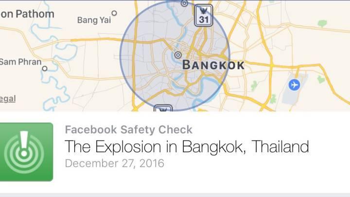 Facebook Safety Check Bangkok