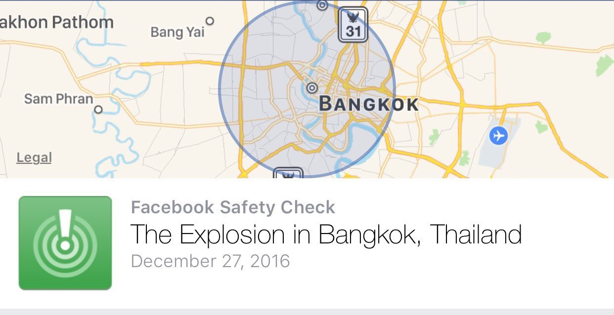 Facebook Safety Check Bangkok