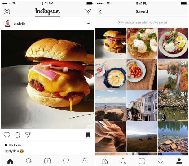You can now save Instagram posts to view later