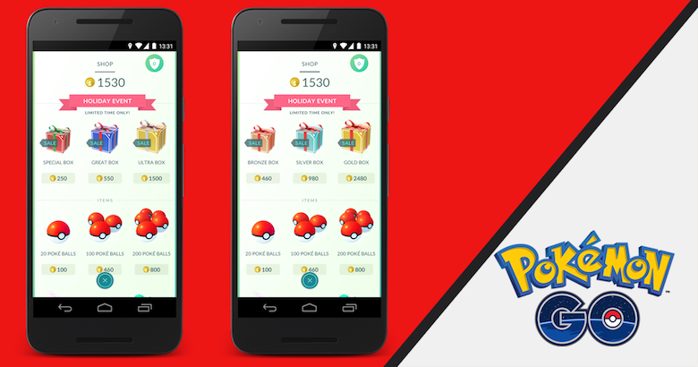 Pokemon Go's holiday item packs are ideal for thrifty trainers