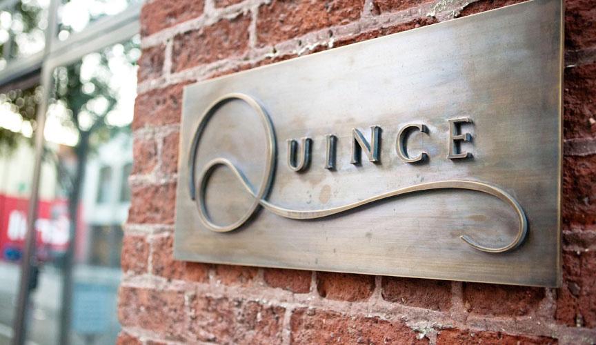 Quince Restaurant iPad Plates