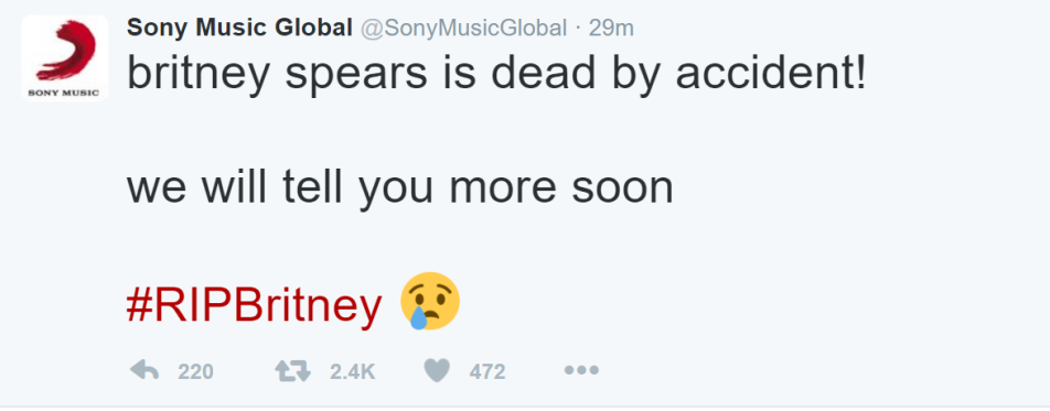 Britney Spears dead