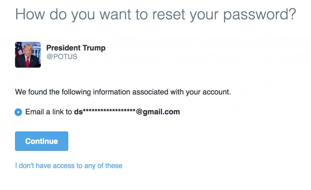 Trump Twitter security