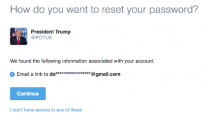 Trump Twitter security