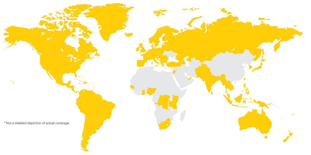 Sprint global roaming coverage