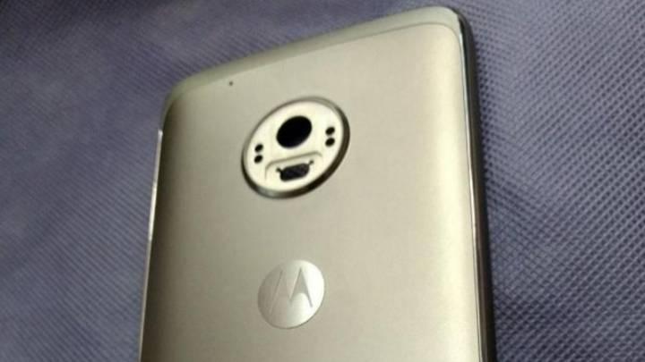 Moto G5 Plus: Rear panel