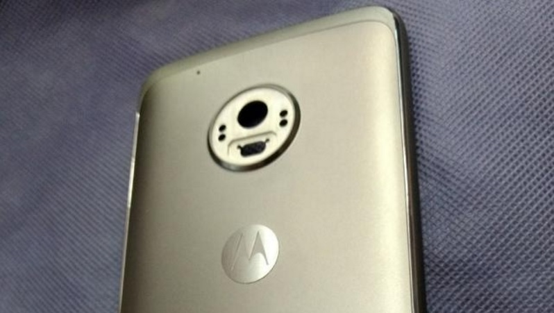 Moto G5 Plus: Rear panel