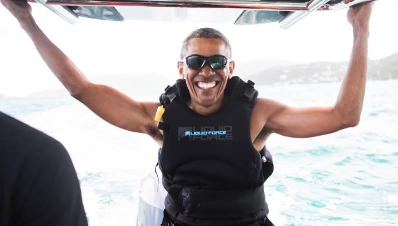 Obama Kiteboarding