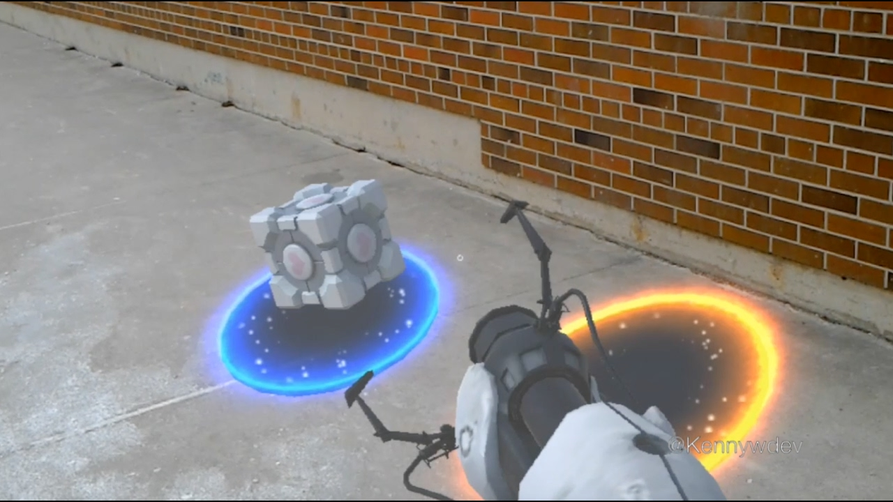 Portal in the real world
