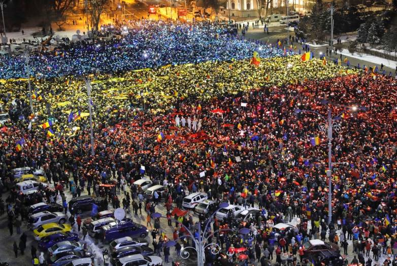 Romania Anti-Government Protests