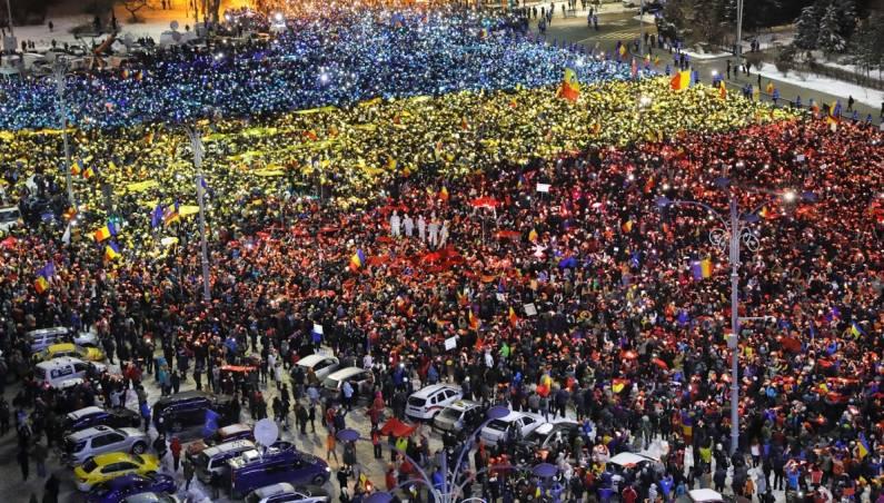 Romania Anti-Government Protests