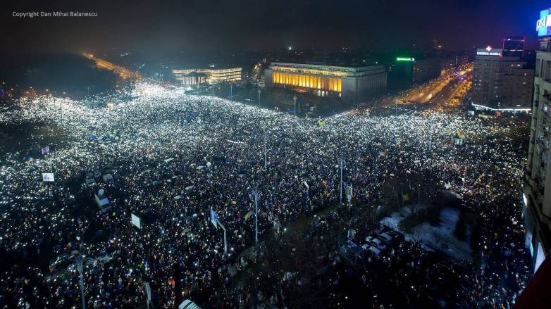 Romania Anti-Corruption Protest