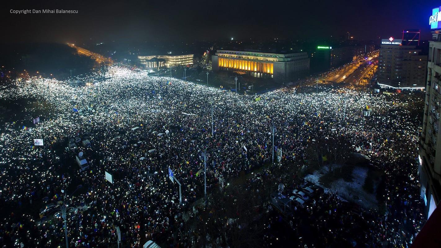 Romania Anti-Corruption Protest