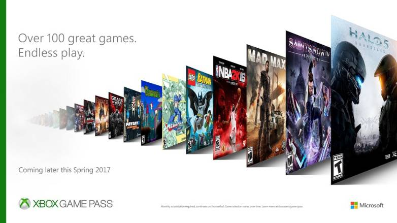 Xbox One Game Pass Service