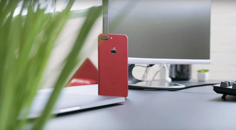 Red iPhone 7 How to Install Black Front