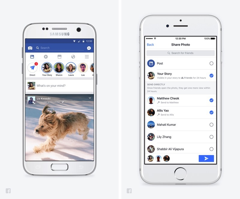 Facebook Stories Snapchat Features
