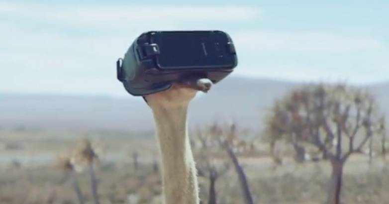 Galaxy S8 Ostrich TV Commercial