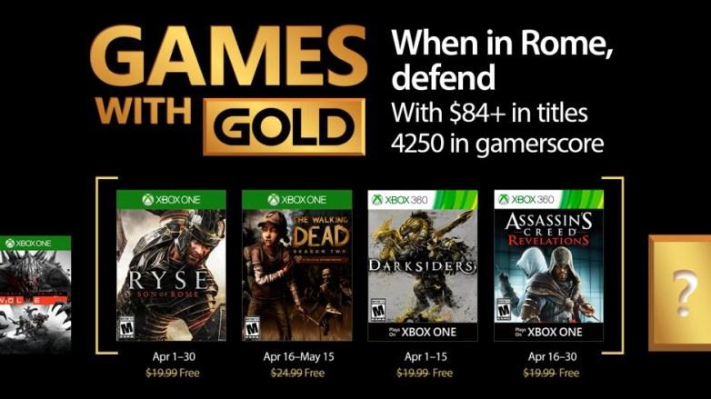 Resultado de imagem para games with gold april 2017