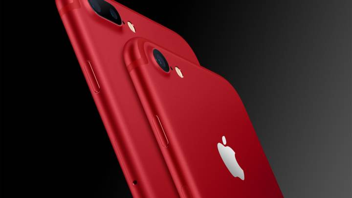 Red iPhone 7 Plus Black Front