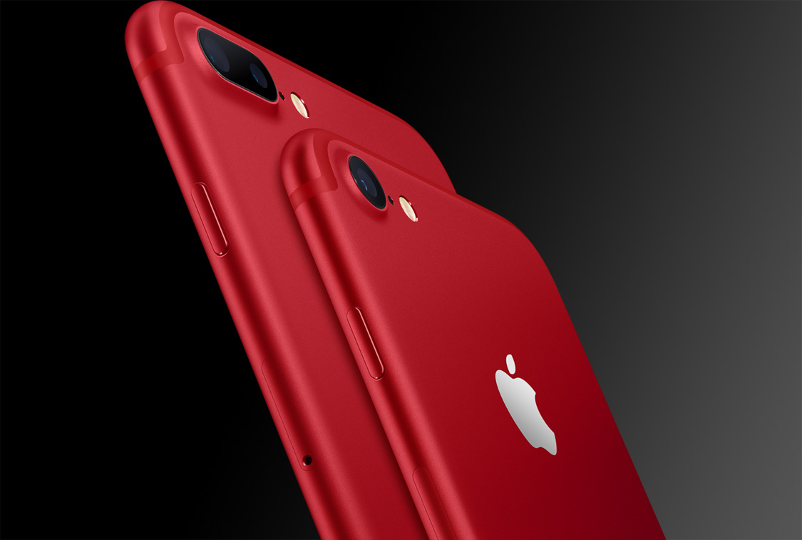 Red iPhone 7 New iPad