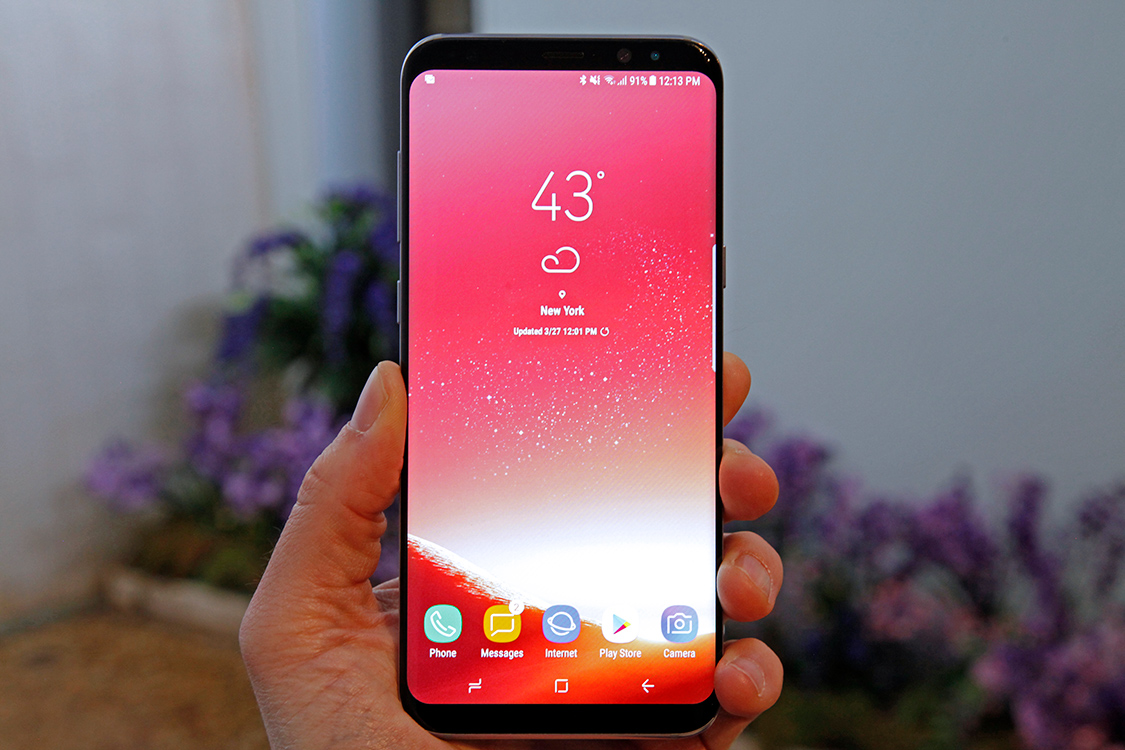 Galaxy S8 Update Red Display
