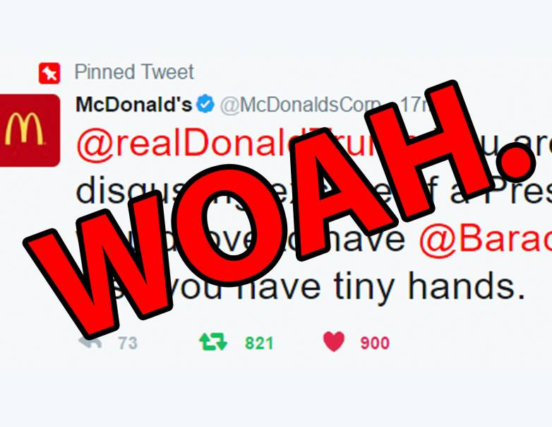 mcdonalds trump