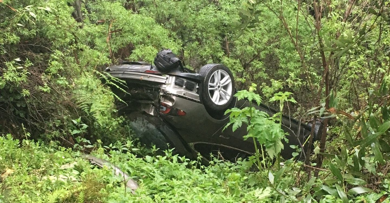 Tesla crash hill