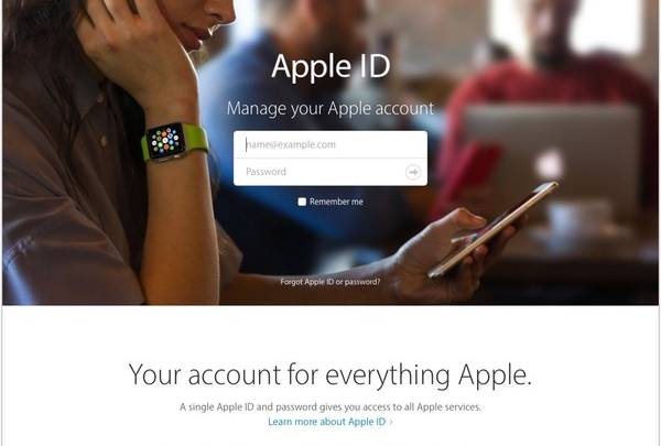 iPhone phishing scam: fake Apple ID for login