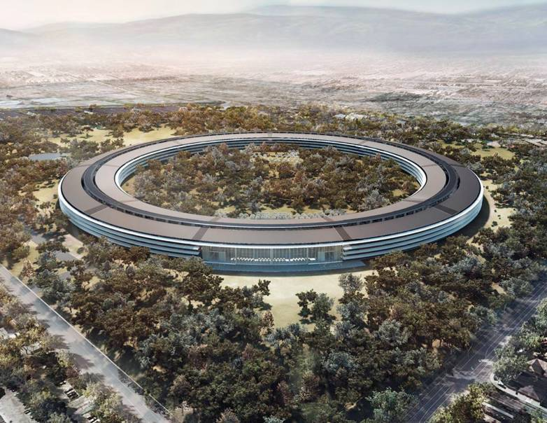 apple campus trees