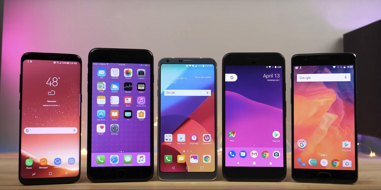 Galaxy S8 vs. iPhone 7 Plus vs. LG G6 vs. Google Pixel: Speed Test