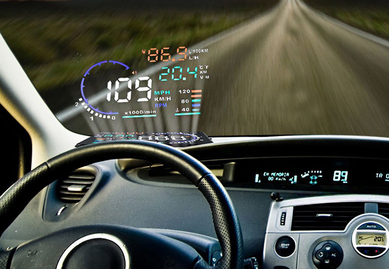 add a high tech head up display to any car for under 50 bgr. Black Bedroom Furniture Sets. Home Design Ideas