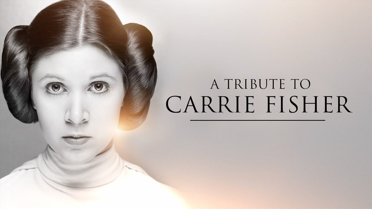 Star Wars Carrie Fisher Leia tribute