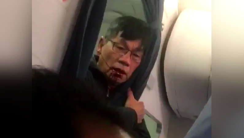 United passenger removed video