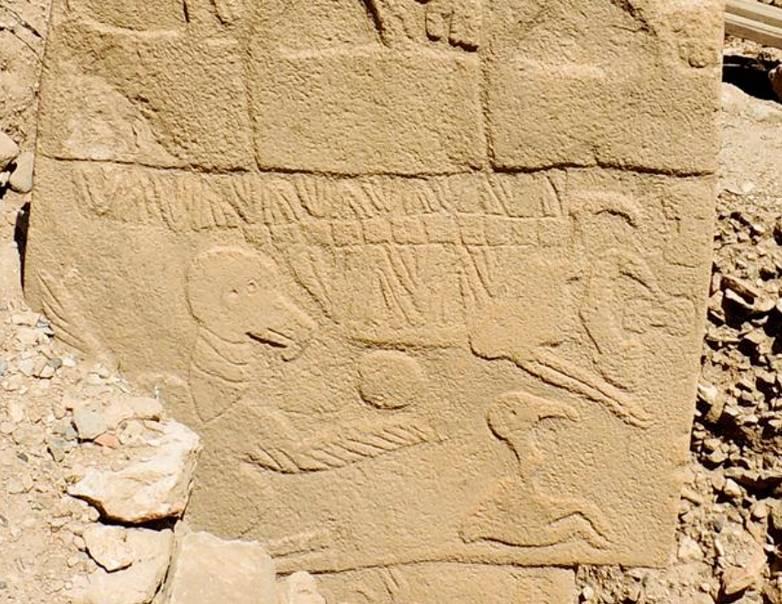 rock carving comet