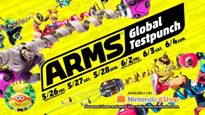ARMS Global Testpunch times